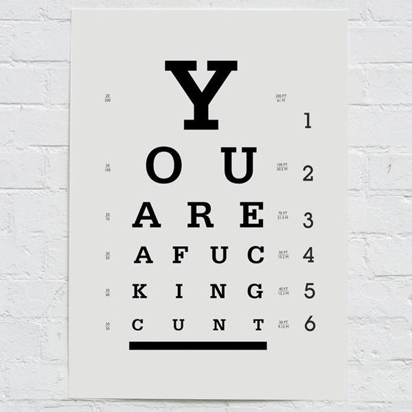 Eye Chart Print Lukedrozd