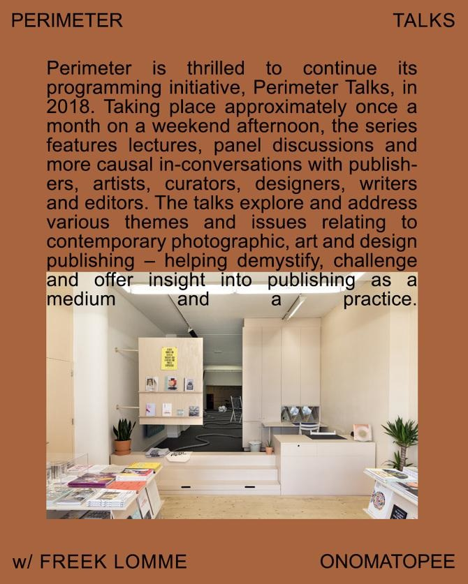 Perimeter Is Thrilled To Continue Its Programming Initiative Talks In 2018 Taking Place Approximately Once A Month On Sunday Afternoon